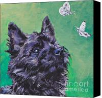 Toto Canvas Prints - Cairn Terrier Canvas Print by Lee Ann Shepard