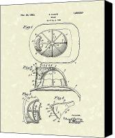 Antique Drawings Canvas Prints - Cairns Helmet 1932 Patent Art Canvas Print by Prior Art Design