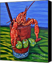 Crawfish Canvas Prints - Cajun Cocktail Canvas Print by JoAnn Wheeler