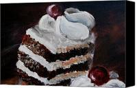 Torte Canvas Prints - Cake 01 Canvas Print by Nik Helbig
