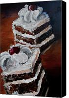 Torte Canvas Prints - Cake 03 Canvas Print by Nik Helbig