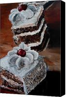 Torte Canvas Prints - Cake 04 Canvas Print by Nik Helbig