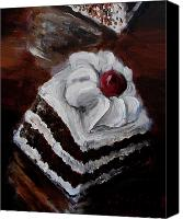 Torte Canvas Prints - Cake 06 Canvas Print by Nik Helbig