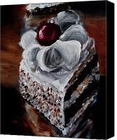 Torte Canvas Prints - Cake 07 Canvas Print by Nik Helbig