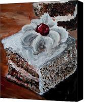 Torte Canvas Prints - Cake 09 Canvas Print by Nik Helbig