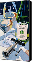 Oil Cat  Canvas Prints - Cakebread Chardonnay Canvas Print by Christopher Mize