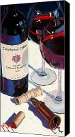 Red Wine Canvas Prints - Cakebread Canvas Print by Christopher Mize