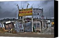 Photographers Atlanta Canvas Prints - Calabash Bait Shop Canvas Print by Corky Willis Atlanta Photography