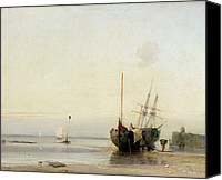 Ports Canvas Prints - Calais Pier Canvas Print by Richard Parkes Bonington