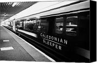 Sleeper Canvas Prints - Caledonian Sleeper Overnight Sleeper Train From Fort William To London Known As The Deerstalker Scot Canvas Print by Joe Fox