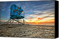 Sand Canvas Prints - California Dreaming Canvas Print by Larry Marshall