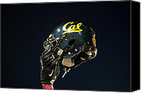 Team Canvas Prints - California Golden Bears Helmet Canvas Print by Replay Photos