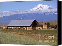 Sky Canvas Prints - California Hay Barn Canvas Print by Methune Hively