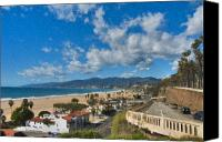 California Canvas Prints - California Incline Palisades Park CA Canvas Print by David  Zanzinger