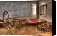 Historic Furniture Canvas Prints - California Mission La Purisima Canvas Print by Bob Christopher