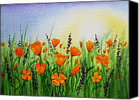 Alpine Canvas Prints - California Poppies Field Canvas Print by Irina Sztukowski