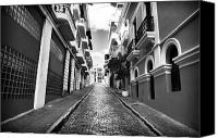Architecture Photo Canvas Prints - Calle Vacia Canvas Print by John Rizzuto
