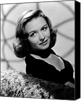 1940s Portraits Canvas Prints - Calling Dr. Gillespie, Donna Reed, 1942 Canvas Print by Everett