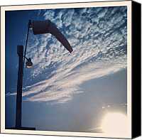 Bestoftheday Canvas Prints - Calm. #airport #windsock #sky #clouds Canvas Print by Adam Romanowicz