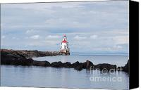 Lighthouse Pyrography Canvas Prints - Calm Light Canvas Print by Whispering Feather Gallery