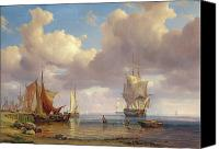 Adolf Canvas Prints - Calm Sea Canvas Print by Adolf Vollmer