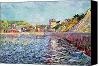 1884 Canvas Prints - Calvados Canvas Print by Paul Signac