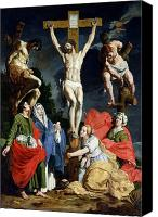 Magdalene Canvas Prints - Calvary Canvas Print by Abraham Janssens van Nuyssen