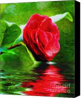 Camelia Canvas Prints - Camelia Reflections Canvas Print by Kat Solinsky