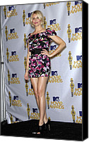 Mtv Canvas Prints - Cameron Diaz Wearing A Diane Von Canvas Print by Everett
