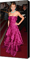 Metropolitan Museum Of Art Costume Institute Canvas Prints - Cameron Diaz Wearing A Dior Gown Canvas Print by Everett