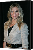 Wavy Hair Canvas Prints - Cameron Diaz Wearing An Elizabeth & Canvas Print by Everett