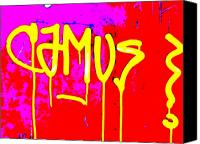 Lyon Canvas Prints - Camus ... Graffitied  Canvas Print by Funkpix Photo  Hunter