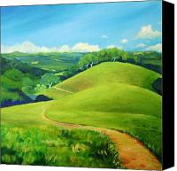 Northern California Canvas Prints - Canada Del Oro Ridge Canvas Print by Stephanie  Maclean