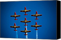 Independence Day Canvas Prints - Canadian Snowbirds Canvas Print by Christy Patino