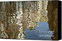 Unique Structure Canvas Prints - Canal House Reflections Canvas Print by Joan Carroll