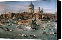 River Transportation Canvas Prints - CANALETTO: THAMES, 18th C Canvas Print by Granger