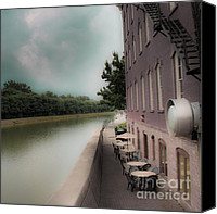 Tables Canvas Prints - Canalside Canvas Print by Ken Marsh