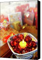Celebrating Canvas Prints - Candle and balls Canvas Print by Carlos Caetano