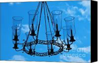Chandelier Canvas Prints - Candle in the sky Canvas Print by Hideaki Sakurai