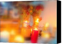 Amy Bradley Canvas Prints - Candle Llight Canvas Print by Amy Bradley