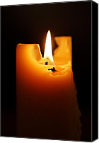 Photographic Art Print Canvas Prints - Candlelight Canvas Print by Rona Black