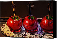 Dessert Drawings Canvas Prints - Candy Apples for Sale Canvas Print by Hillary Scott