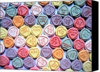 Love Hearts Canvas Prints - Candy Love Canvas Print by Michael Tompsett
