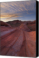 Valley Of Fire Canvas Prints - Candy Stripes Canvas Print by Joseph Rossbach