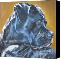 Cane Canvas Prints - Cane Corso Canvas Print by Lee Ann Shepard
