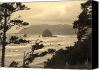 Water Special Promotions - Cannon Beach 2 Canvas Print by Jim Moore