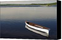 White River Scene Canvas Prints - Canoe On Gander River, Gander Bay Canvas Print by John Sylvester