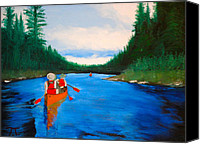 Bsa Canvas Prints - Canoeing boundary waters BSA Canvas Print by Troy Thomas