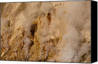 Yellowstone Park Canvas Prints - Canyon Steam Vents in Yellowstone National Park Canvas Print by Bruce Gourley