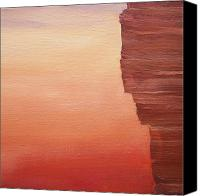 Irene Corey Canvas Prints - Canyon Wall Canvas Print by Irene Corey